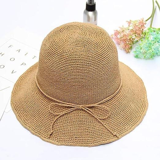 Fuudear Sombrero de Paja for Mujer Sombrero for el Sol Embalaje ...