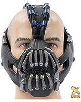 Xcoser Bane Mask Replica Gunmetal Version Adult Size for Batman the Dark Knight Rises