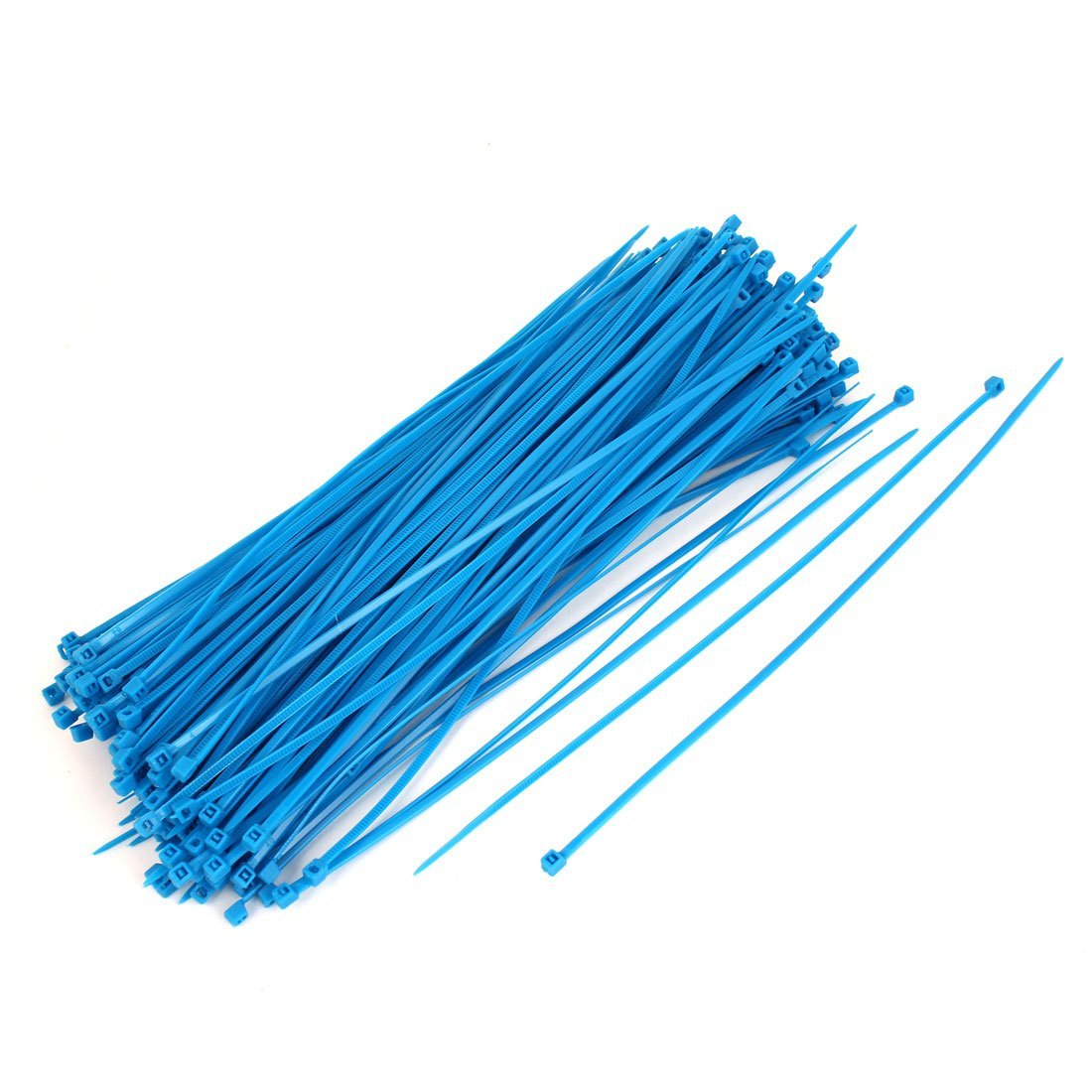 Uxcell Nylon Self Locking Electric Wire Cable Zip Ties 4x250mm 250pcs Blue