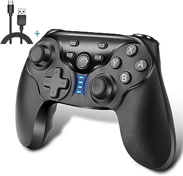 iAmer Mandos Inalámbrico para Nintendo Switch, Mando Pro Controller Para Nintendo Switch Bluetooth Gamepad Joystick con Gyro Axis Dual Shock Vibration: Amazon.es: Electrónica
