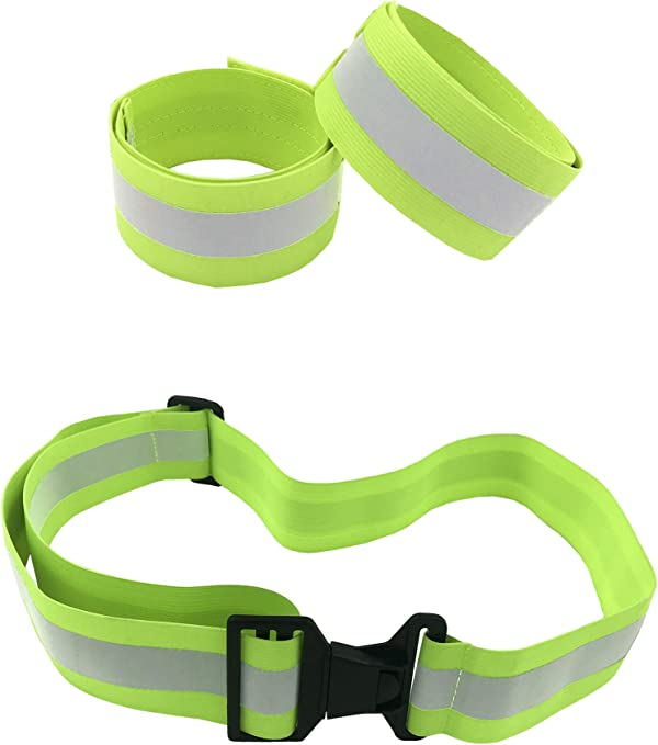 High Visibility Reflective Belt Reflective Running Gear for Men and Women for Night Running Cycling Walking Military Safety Reflector Strips Army PT Belt