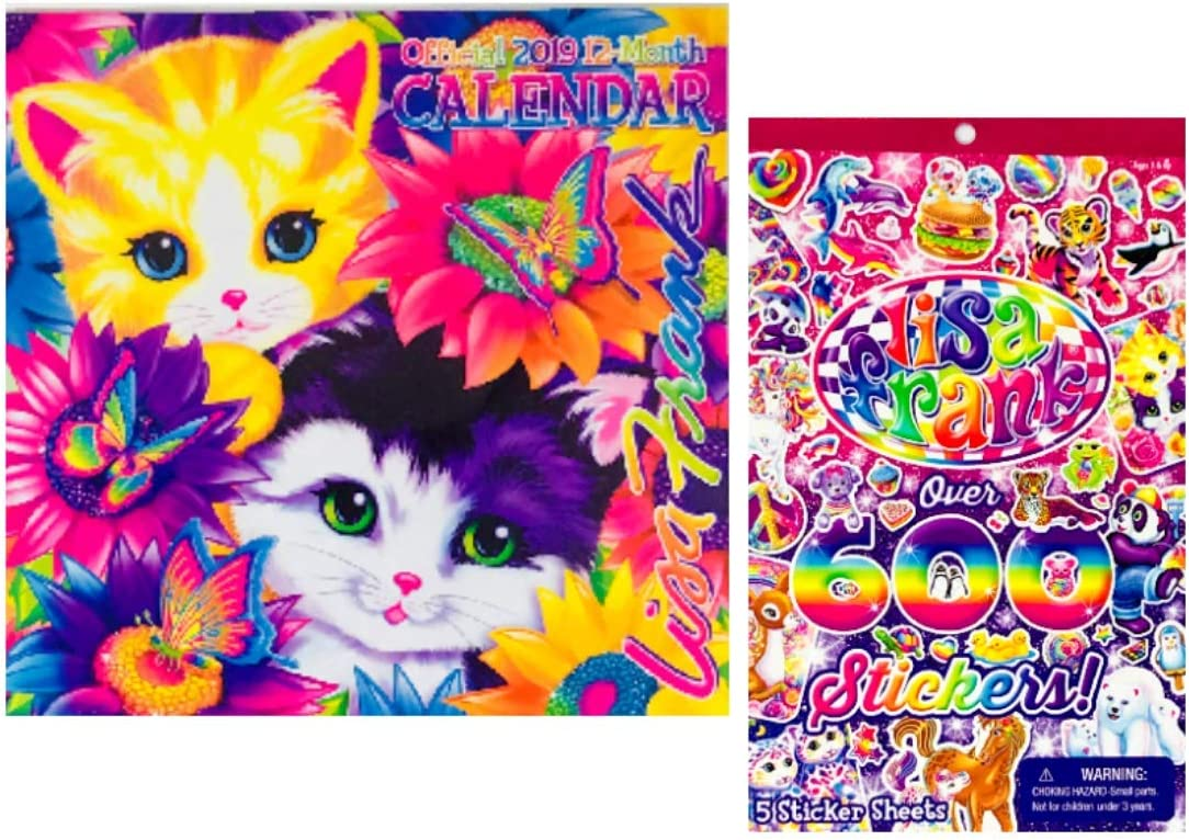 Amazon.: Lisa Frank Official 2019 12 Month Calendar and Lisa