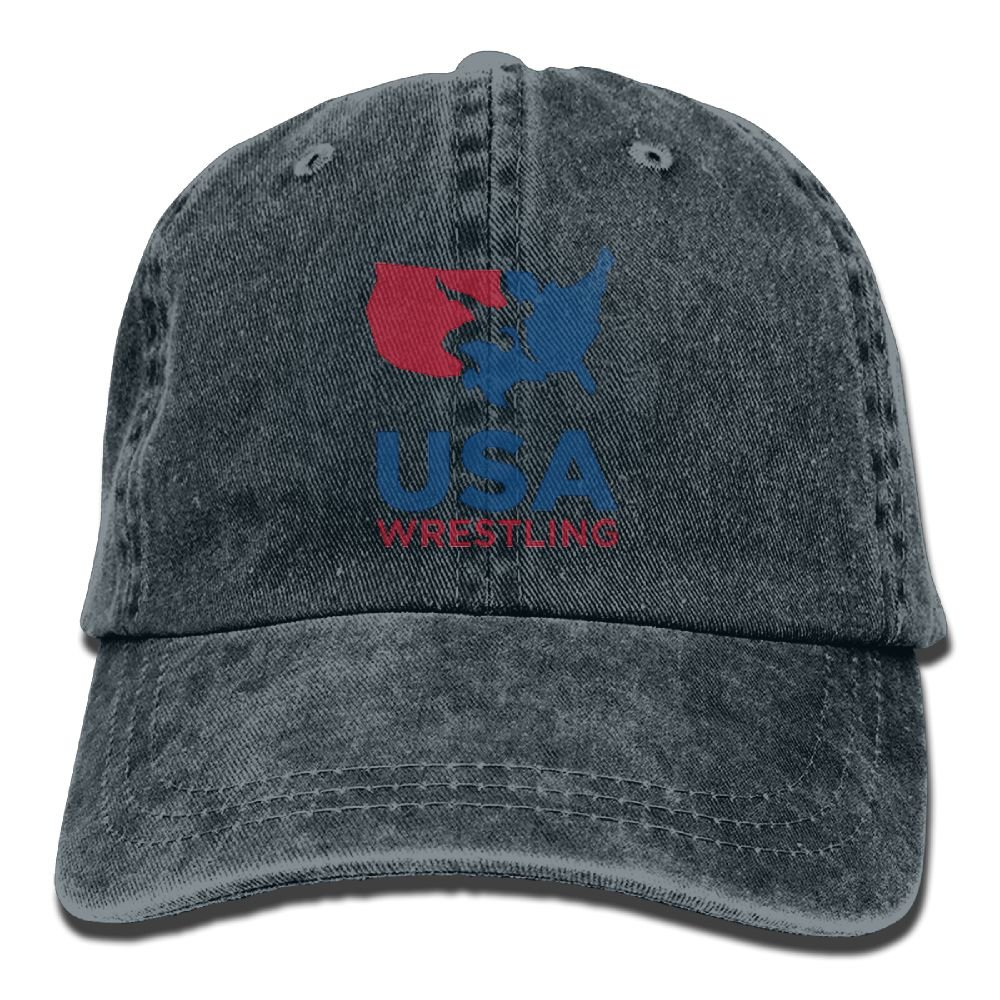 FBGVFD USA Wrestling Logo Baseball Caps Casual Low Profile Polo Style Hat for College Students