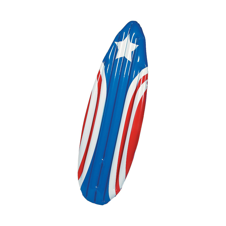 Amazon.com: Hinchable de vinilo Patriótica Tabla de surf ...