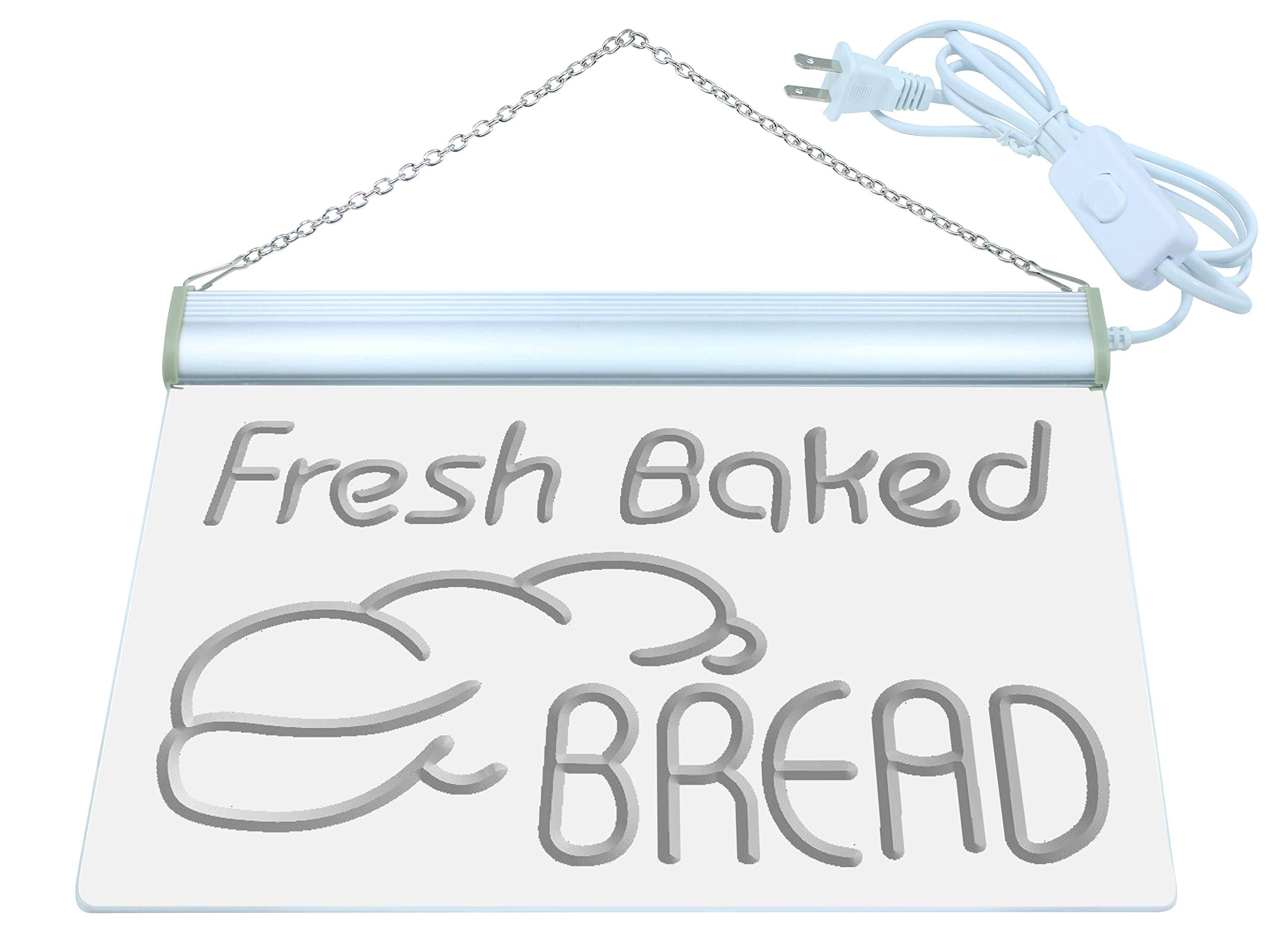 ADVPRO Multi Color i512-c Fresh Baked Bread Bakery Shop Neon LED Sign with Remote Control, 20 Colors, 19 Dynamic Modes, Speed & Brightness Adjustable, Demo Mode, Auto Save Function