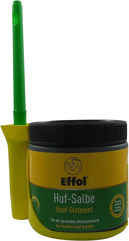 Set Effol HUF - Ungüento EN NEGRO + Effol Pincel - Fix - pomada para cascos con VASELINA y Aceite De Laurel 500ml Un ganzjähriges Producto para el Cuidado Para Un Saludable crecimiento de la pezuña