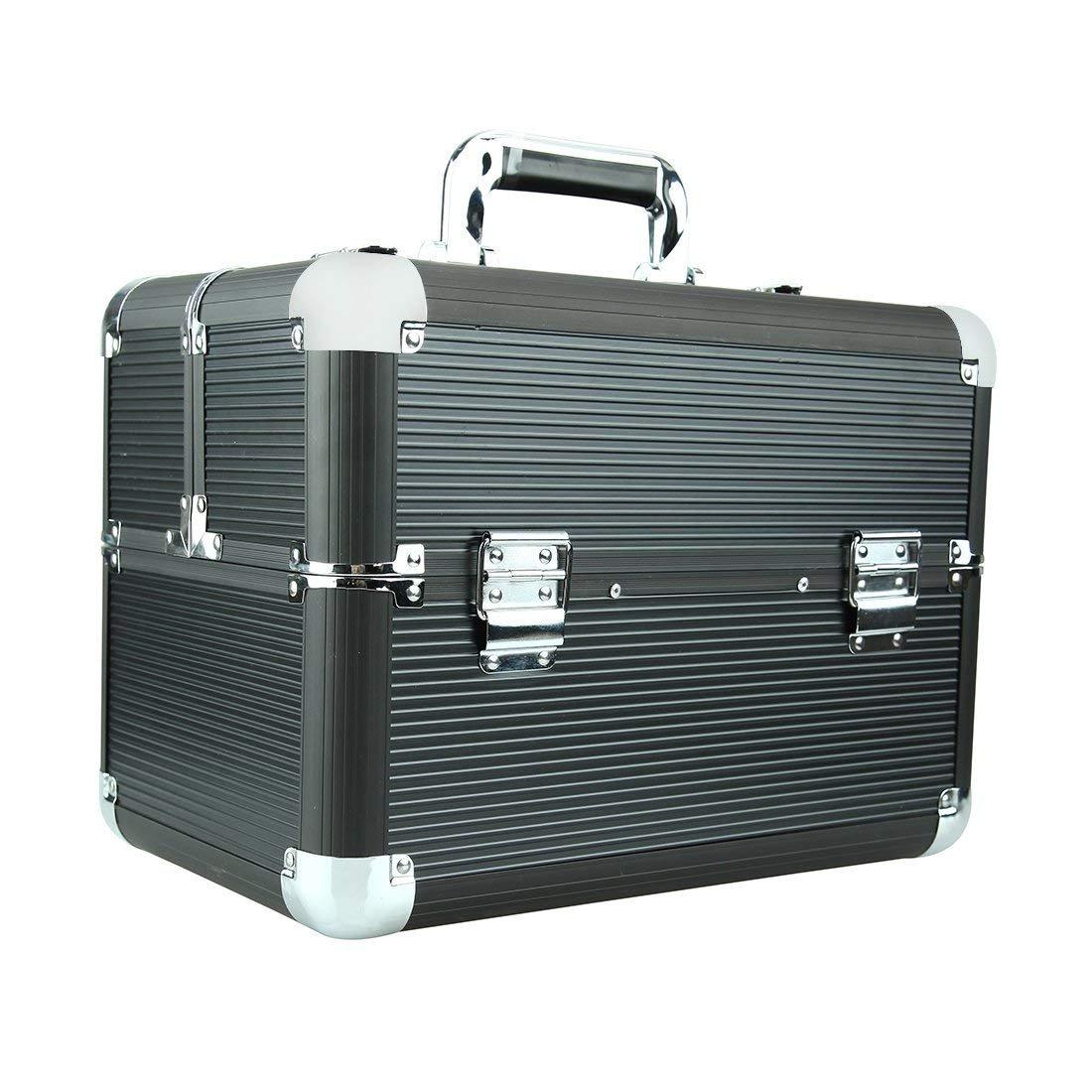 Makeup Train Cases Professional Large Make Up Boxes Artist Organizer Kit Makeup Cases Black Saint. Bos
