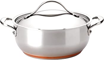 Anolon Nouvelle Copper Stainless Steel 4-Quart Chef Casserole