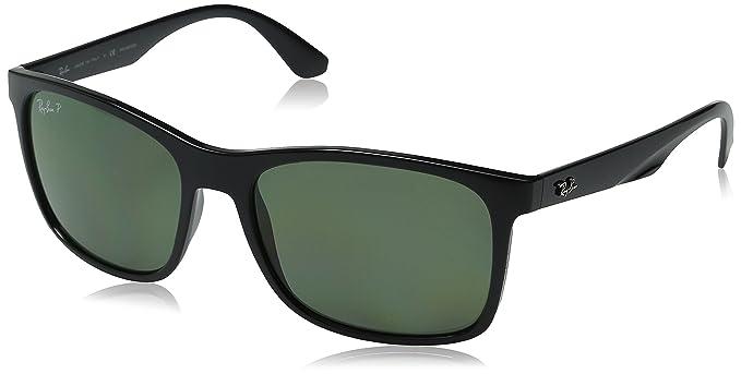 23d4cd4f5b14 Ray-Ban INJECTED MAN SUNGLASS - BLACK Frame POLAR GREEN Lenses 57mm  Polarized