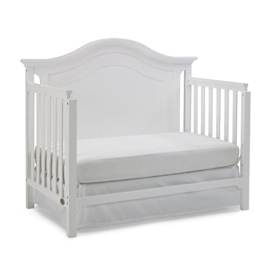 Ti Amo Catania 4-in-1 Convertible Crib, Snow White