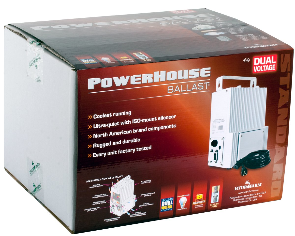 Powerhouse 400W 120/240v HPS Ballast by Hydrofarm