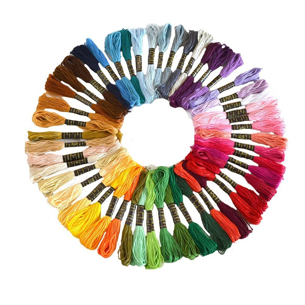 Cotton Embroidery Thread  Wartoon Cotton Embroidery Floss Sewing Thread Set for Cross Stitch(50 PCS) Wartoon Direct