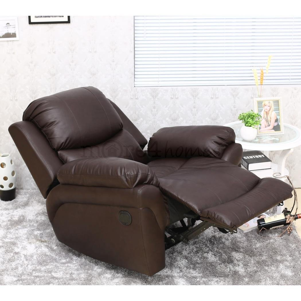 MADISON ELECTRIC LEATHER AUTOMATIC RECLINER ARMCHAIR SOFA HOME LOUNGE CHAIR  (Brown): Amazon.co.uk: Kitchen U0026 Home