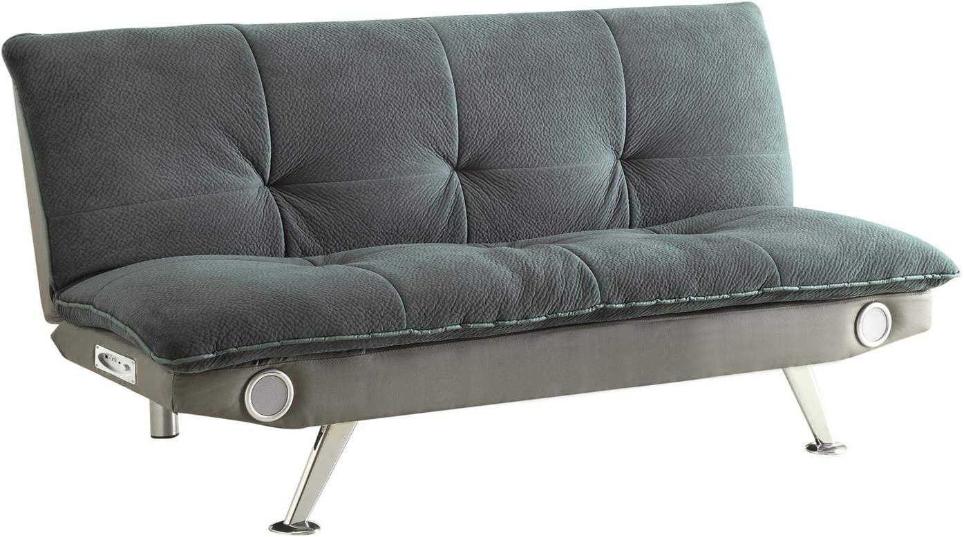 Sofa Bed with Built-In Bluetooth Speakers Grey