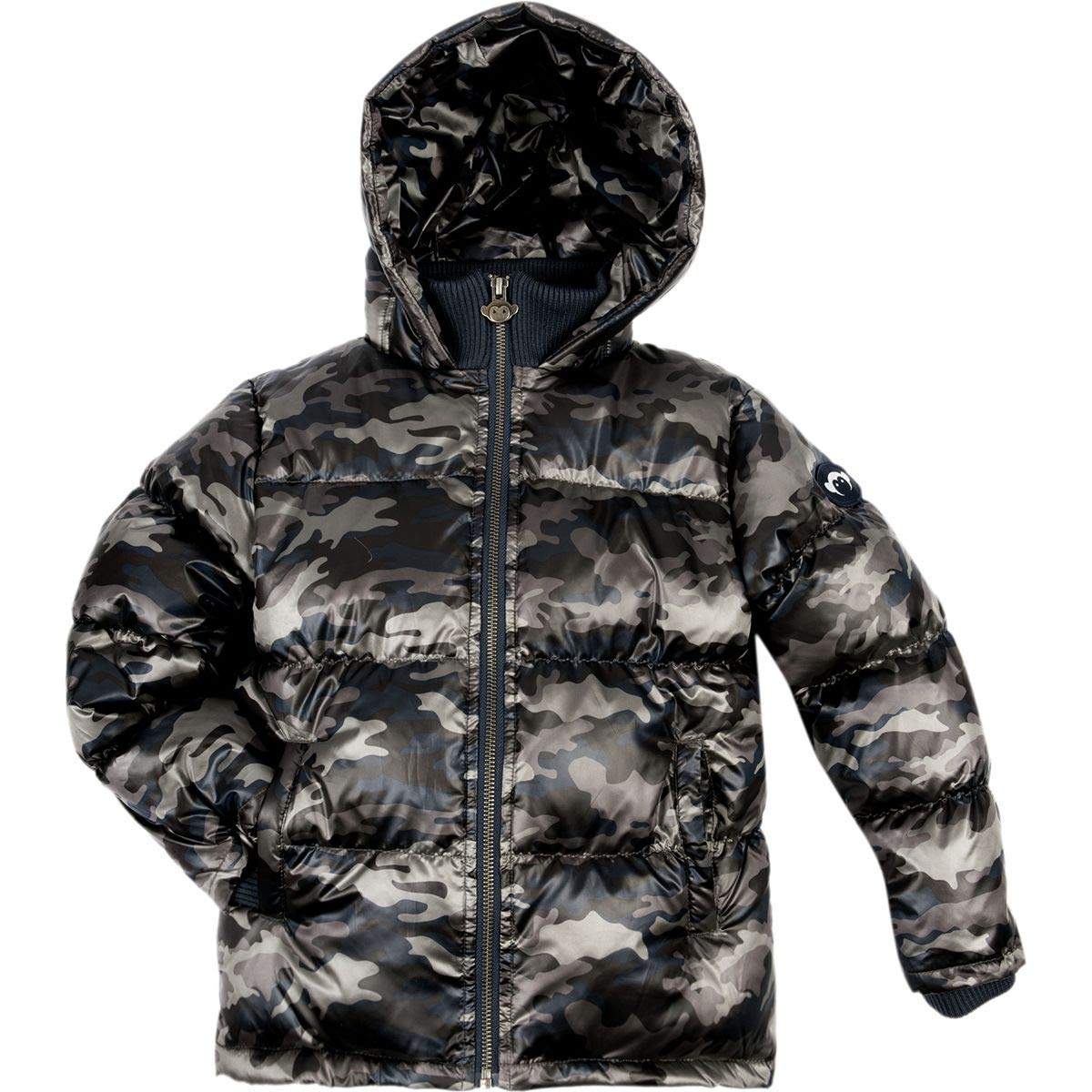 Appaman Kids Baby Boy's Soft Base Camp Puffer Jacket with Front Pockets (Toddler/Little Kids/Big Kids) City Nights Camo 7