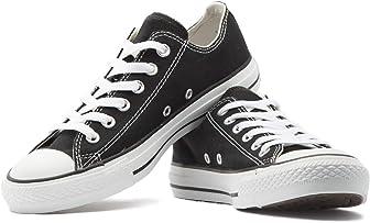 KE DI Zapatos de lona para mujer de piel de Estados Unidos, estilo All Star, S-3, parte superior baja, informal, con cordones, para correr, caminar, yoga, zapatillas