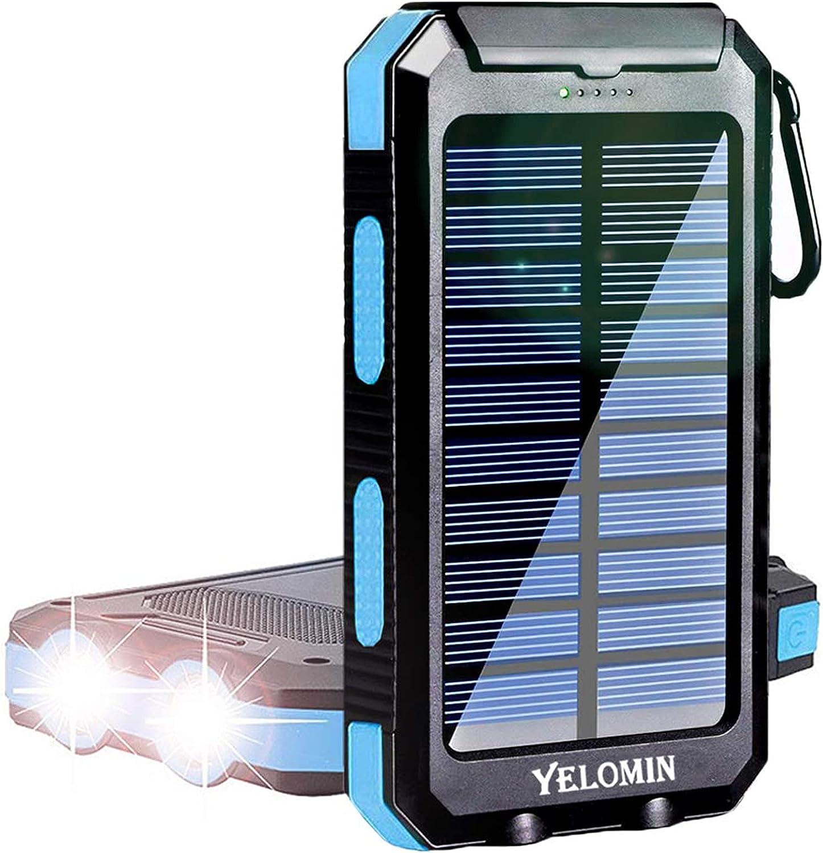 YELOMIN 20000mAh Portable Solar Power Bank $18.39 Coupon