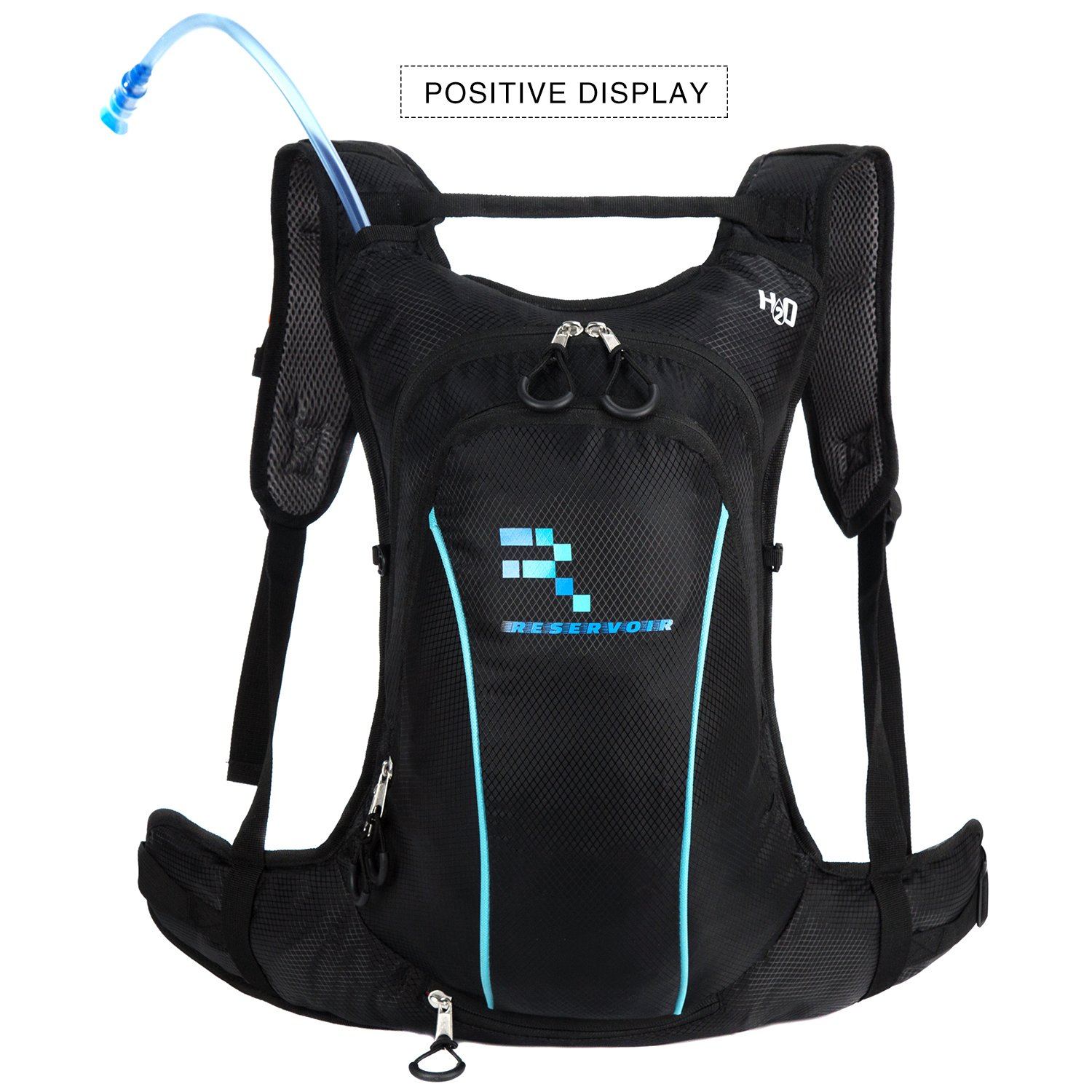 Reservoir Optimum Performance Hydration Backpack, Water Bladder Included - Small, Light Weight, Unisex Design For Men and Women, Weather Resistant, Perfect Pack for Festivals, Cycling, Running, Hiking