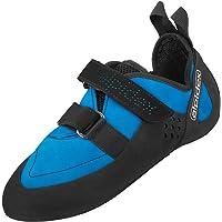 ALPIDEX Kletterschuhe mit Klettverschluss und Vibramsohle asymmetrisch, ohne Downturn, mit Vorspannung erhältlich in den Größen 36-49