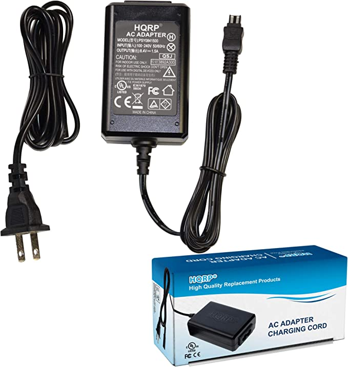 HDR-CX270V HDR-CX270VE HDR-CX280E HDR-CX290 HDR-CX250E HDR-CX260VE AC Power Adapter Charger for Sony HDR-CX250 HDR-CX280 HDR-CX260V HDR-CX290E Handycam Camcorder