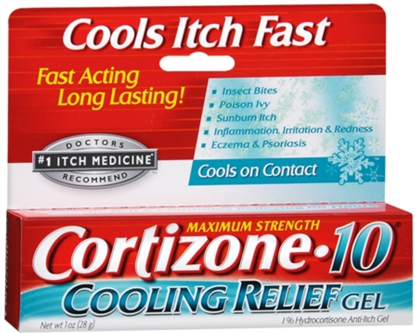 Cortizone-10 Cooling Relief Anti-Itch Gel 1 oz (Pack of 5) by Cortizone 10