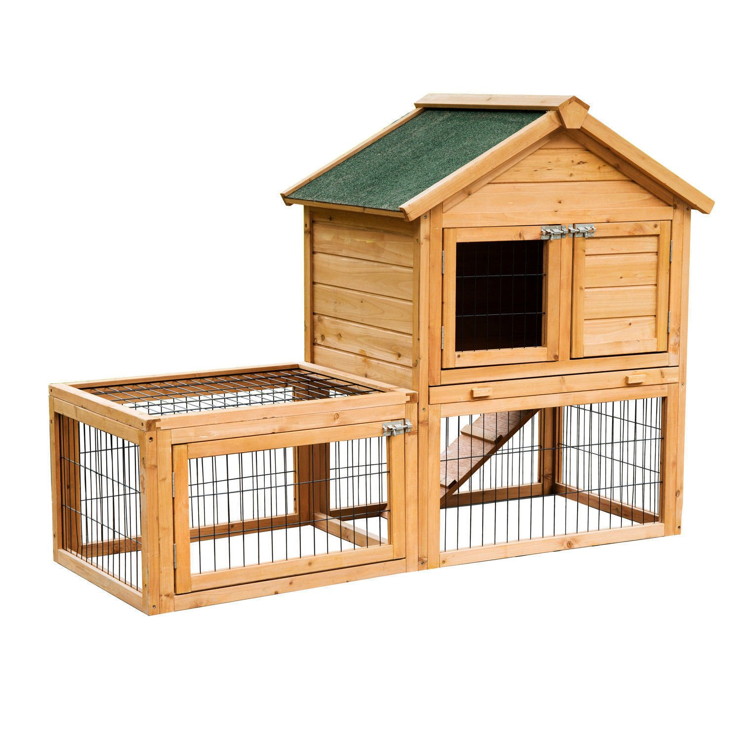 Eight24hours 53'' Wooden Chicken Coop Rabbit Hutch Small Pet House Hen Cages + FREE E-Book by Eight24hours (Image #1)