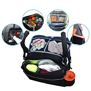 Johnnyhw The Original 5-In-1 Insulated Stroller Bag And Backseat Organizer