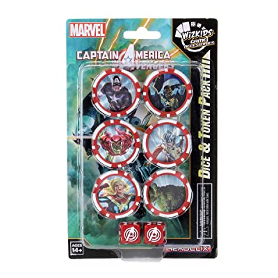 WizKids Marvel HeroClix Captain America and The Avengers Dice & Token Set: Toys & Games
