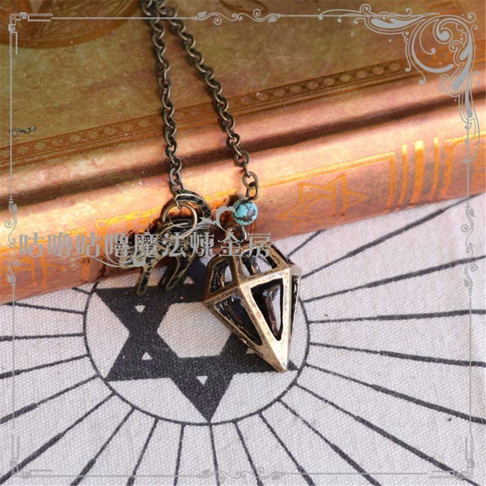 Sum-elyn Metal Swing bass Necklaces Original Make a Fortune Neck Chain Pendant for Man and Women Hand Made