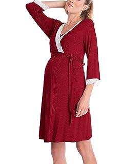 Lomon Vestido de Mujer para Maternidad Camisón de Noche para estancias en Hospital. Camisón de