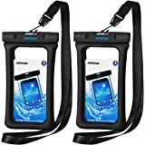 """Mpow 084 Waterproof Phone Pouch Floating, IPX8 Universal Waterproof Case Underwater Dry Bag Compatible iPhone Xs Max/Xr/X/8/8plus/7/7plus Galaxy s9/s8 Note 9/8 Google Pixel up to 6.5"""" (Black)"""