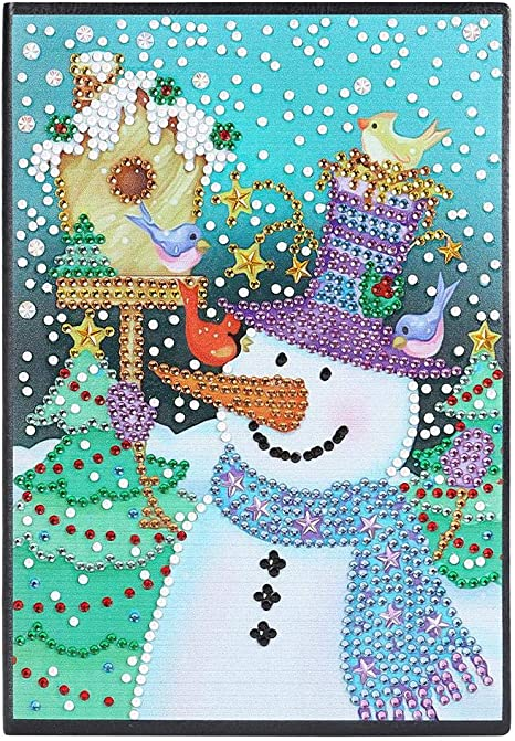 Amazon Com Christmas Diamond Painting Notebook Gift Snowman