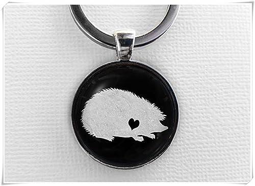 Amazon.com: Llavero de erizo con forma de animal, llavero de ...