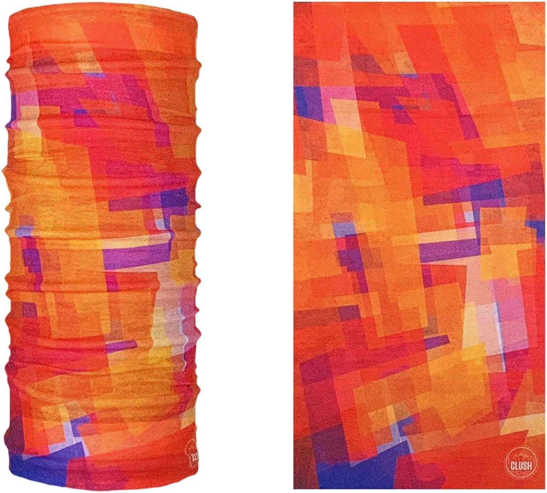 pour femmes et hommes masque pour la moto le cyclisme et le ski CLUSH Foulard bandana bandana multifonctionnel imprim/é: le mat/ériau Face Shield est flexible et respirant