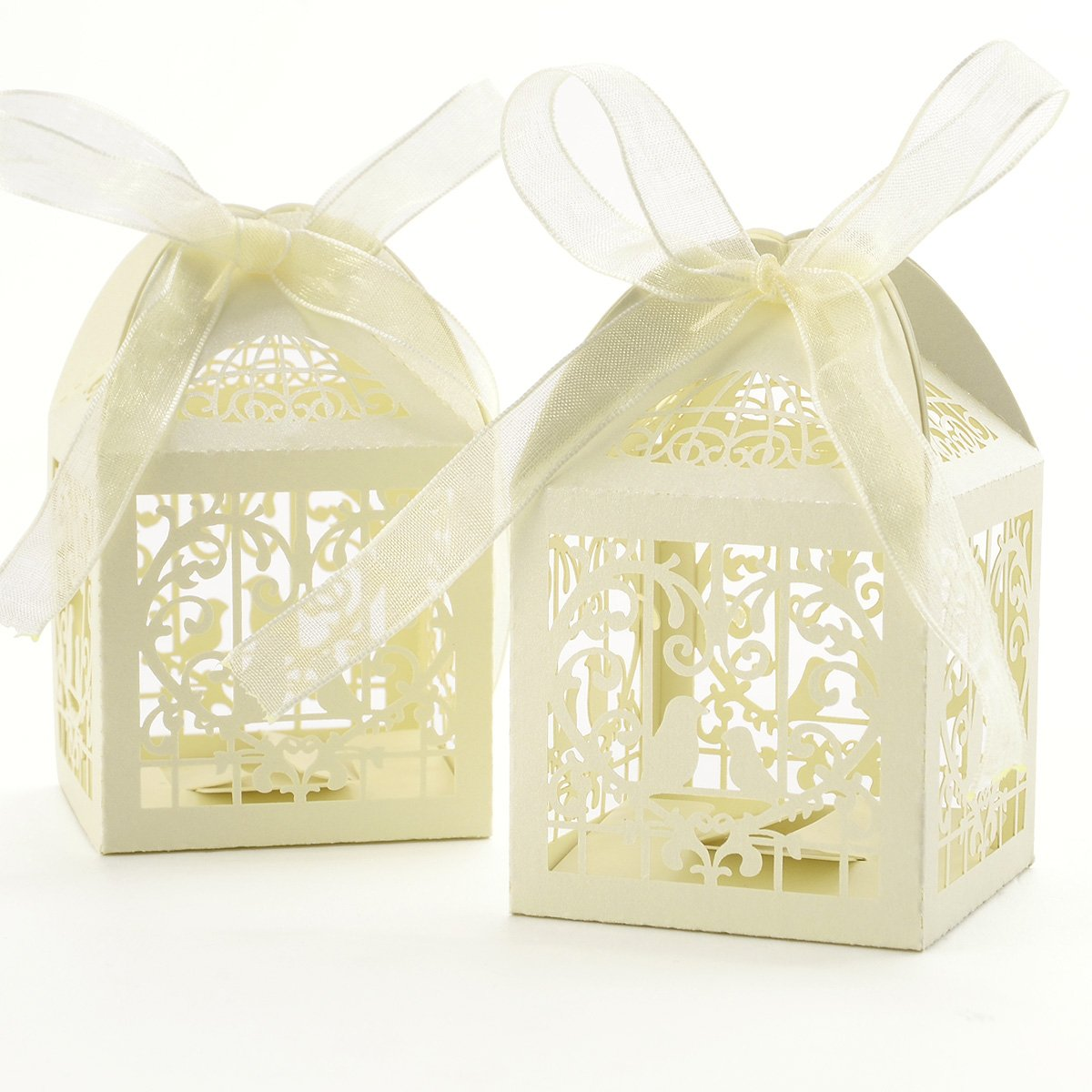 Amazon 25pcs Quality Pearl Paper Hollow Wedding Favor Candy