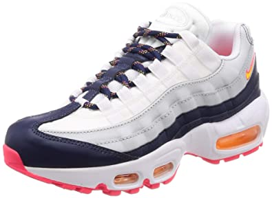 buy online 98d7f 028ee Nike Air Max 95 Premium Women s Shoes Midnight Navy Pure Platinum Laser  Orange 307960