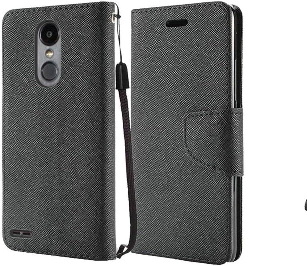 Compatible with LG Aristo 3 (LGX220) / LG Rebel 4 (L212VL), Premium Flip Wallet Credit Card Cover Case (Wallet Black)