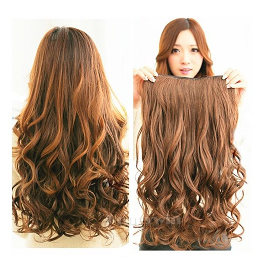 Amazon honeywin 21 remyremi wavy 5 clips in hair amazon honeywin 21 remyremi wavy 5 clips in hair extensions beauty hairsalon 120g for womens fashion one piece hair packing dark brown beauty pmusecretfo Images