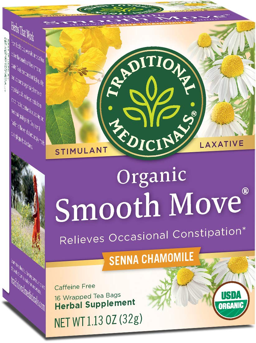 Traditional Medicinals Organic Smooth Move Chamomile Laxative Tea, 16 Tea Bags (Pack of 6)