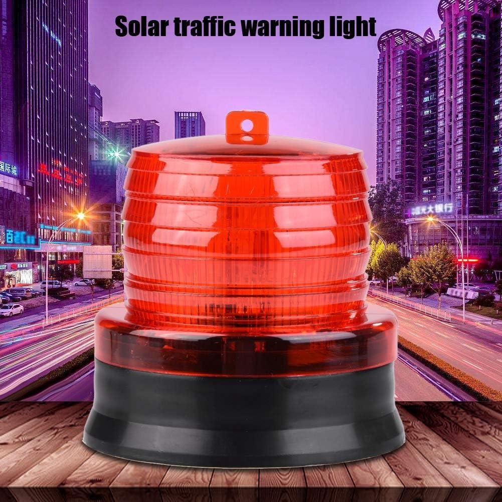 Fdit LED Revolving Warning Light Flashing Lamp Flashing Alarm Light Warning Light Solar Emergency Warning Light red