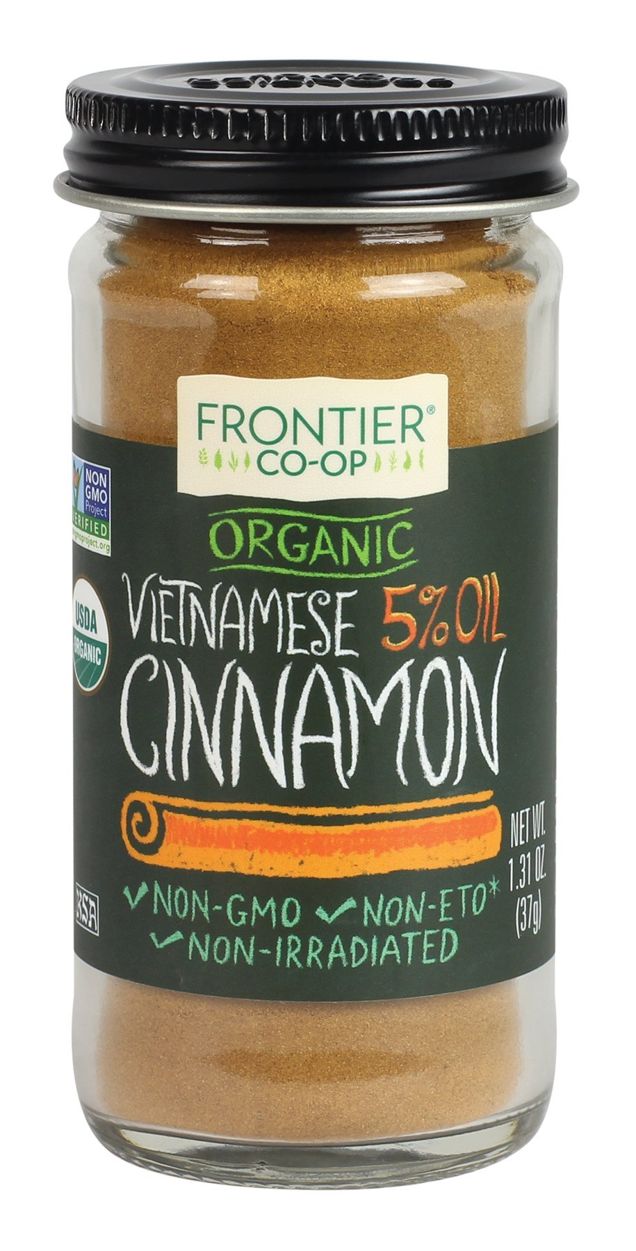 Frontier Organic Vietnamese Cinnamon, Ground, 1.31 Ounce