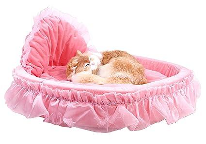Máquina Lavable Mascota Acolchado Cama princesa Perro Estera cama Antideslizante Cachemira acogedora cama con Impermeable Fondo