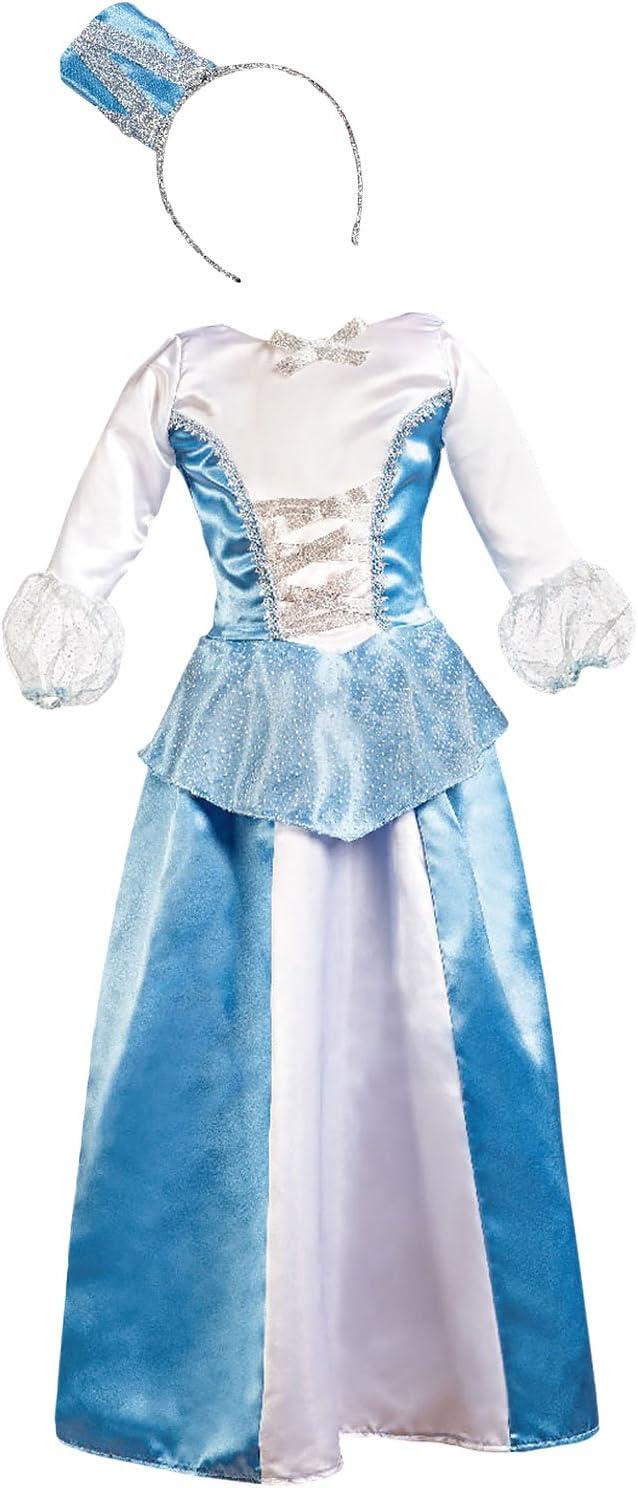 Disfraz de Princesa azul para niña: Amazon.es: Juguetes y juegos