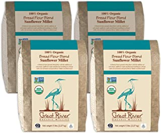 product image for Great River Organic Milling, Bread Flour Blend, Sunflower Millet Blend, Stone Ground, Organic, 5-Pounds (Pack of 4)