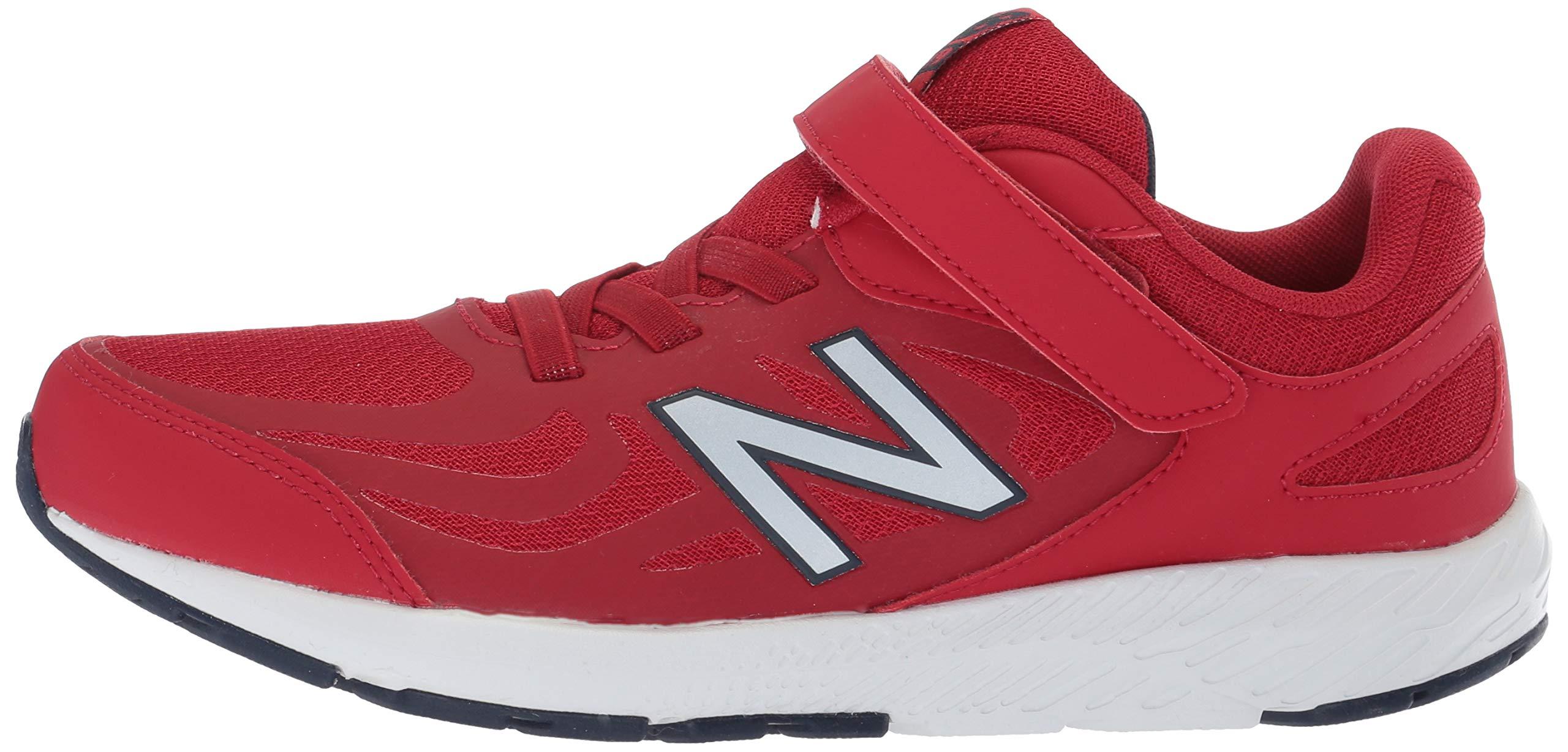 New Balance Boys' 519v1 Hook and Loop Running Shoe, Chili Pepper/Nubuck Scarlet, 2 M US Infant by New Balance (Image #5)