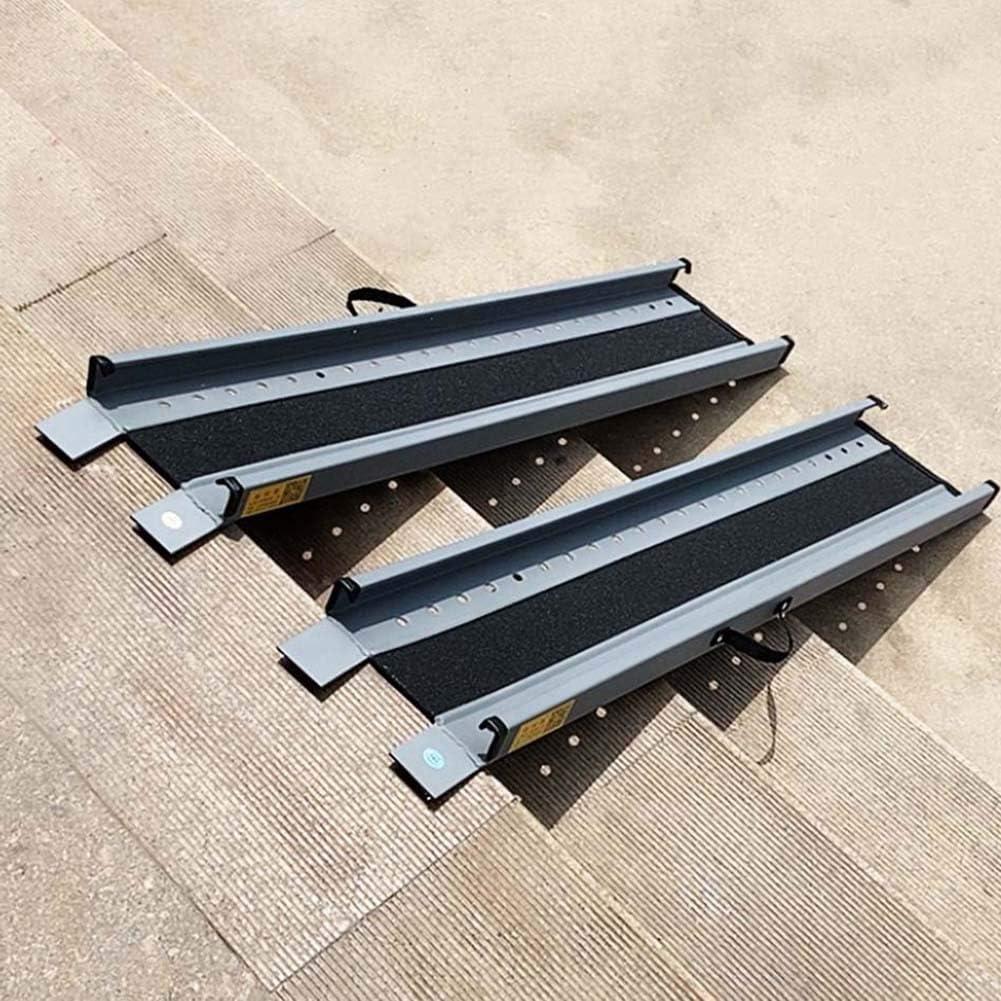 JLXJ Rampas 60cm/100cm/120cm/140cm de Largo Rampa para Silla de Ruedas/Rampas de Umbral, para el Exterior del Hogar, Escaleras, Escalones, Puertas, Automóviles, Mascotas, Aluminio Ligero