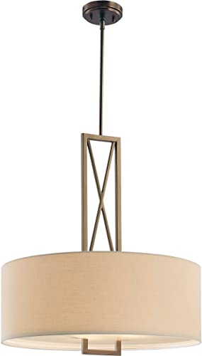 Minka Lavery Minka 4362-281 Transitional Three Light Pendant from Harvard Court Collection in Bronze Darkfinish, 24.00 inches 3, Upc-747396072937