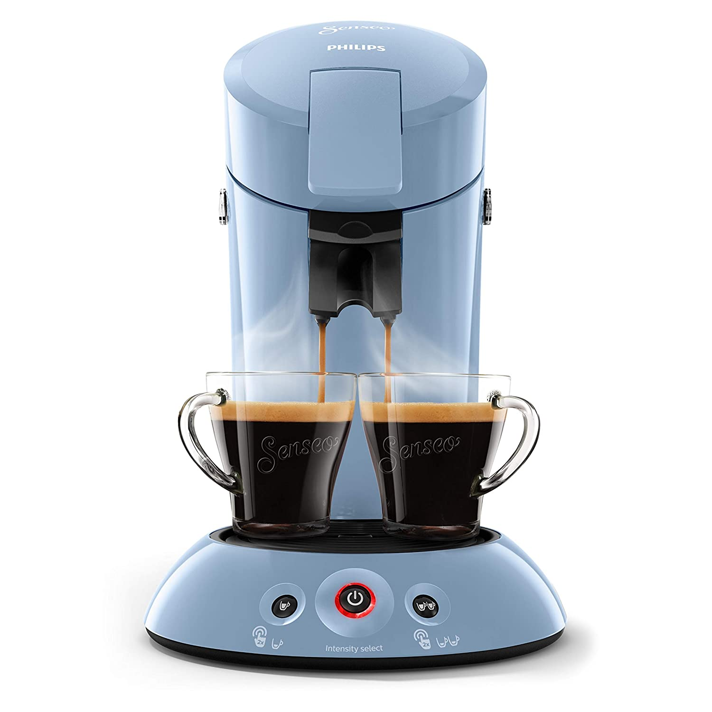 Senseo Original HD6554/71 - Cafetera (Independiente, Máquina de café en cápsulas, 0,7 L, Dosis de café, 1450 W, Azul)