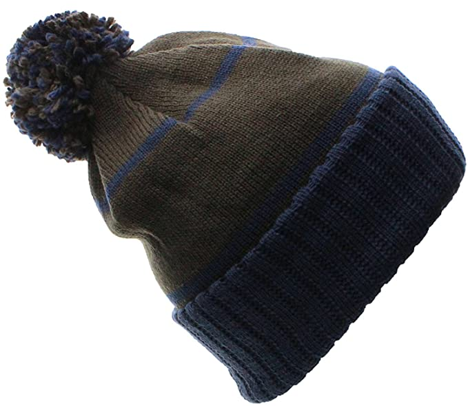 d19d37c2e11 Emmalise Texas Cuff Beanie Cable Knit Pom Pom Hat Cap (One Size