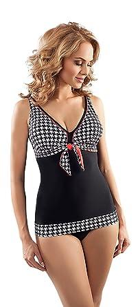 1064eb0936 Aquarilla Luxury Swimwear Womens Two Piece Full Cup Bra Tankini Bikini Set Swimming  Costume: Amazon.co.uk: Clothing